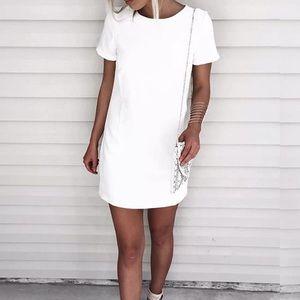 Lulus Shift and shout ivory shift dress